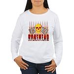 BONEHEAD W TALL FLAMES Women's Long Sleeve T-Shirt