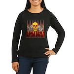 BONEHEAD W TALL FLAMES Women's Long Sleeve Dark T-