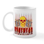 BONEHEAD W TALL FLAMES Mug