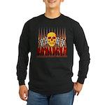 BONEHEAD W TALL FLAMES Long Sleeve Dark T-Shirt