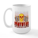 BONEHEAD W TALL FLAMES Large Mug