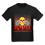 BONEHEAD W TALL FLAMES Kids Dark T-Shirt