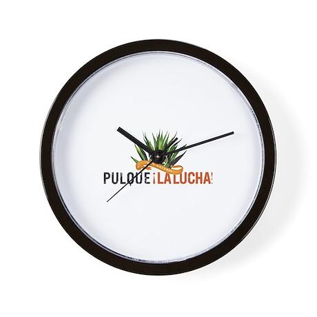 Pulque La Lucha Wall Clock