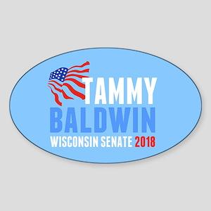 Tammy Baldwin 2018 Sticker (Oval)