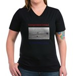Innovation III Women's V-Neck Dark T-Shirt