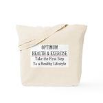 Optimum Health & Sports Training Tote Bag