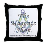 The Masonic Shop Logo Throw Pillow