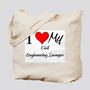 I Heart My Civil Engineering Surveyor Tote Bag