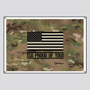 So Proud of You: Military Camouflage Banner