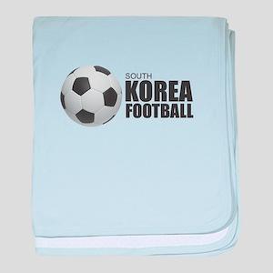 South Korea Football baby blanket