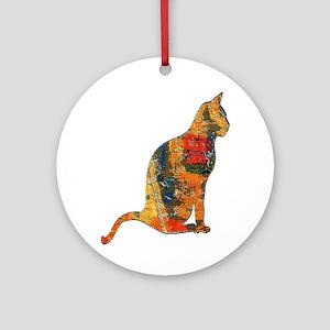 CAT FANCY Round Ornament
