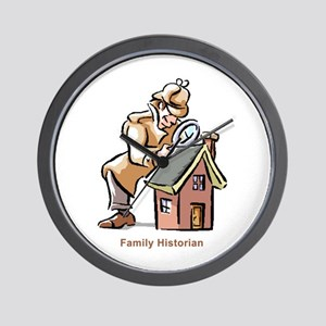 Family Historian Wall Clock