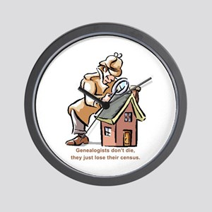 Genealogists Don't Die Wall Clock