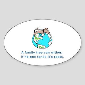 Family Tree Oval Sticker