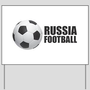 Russia Football Yard Sign