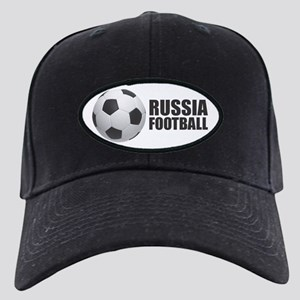 Russia Football Black Cap with Patch