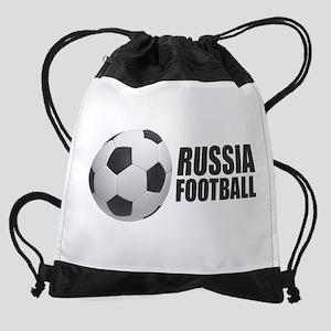 Russia Football Drawstring Bag