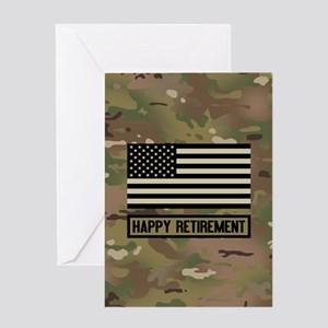 Happy Retirement: Military Camouflag Greeting Card