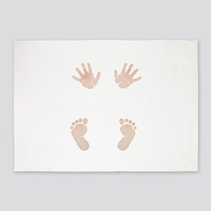 Baby_Hands_and_Feet_Maternity_Exc1 5'x7'Area Rug