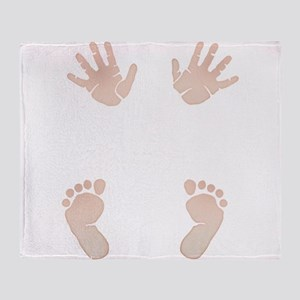 Baby_Hands_and_Feet_Maternity_Exc1 Throw Blanket