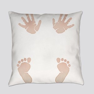 Baby_Hands_and_Feet_Maternity_Exc1 Everyday Pillow
