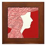 Red Lady Framed Tile
