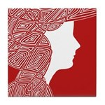 Red Lady Tile Coaster