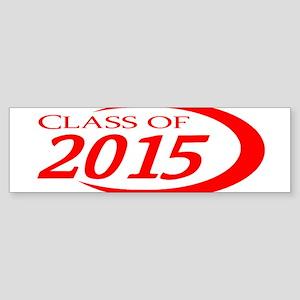 Class of 2015 Red Bumper Sticker