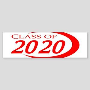 Class of 2020 Red Bumper Sticker