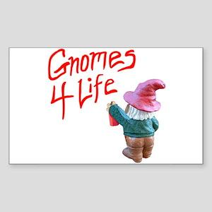 Gnome Graffiti Rectangle Sticker