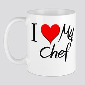 I Heart My Chef Mug
