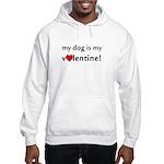 My Dog Is My Valentine! Hooded Sweatshirt