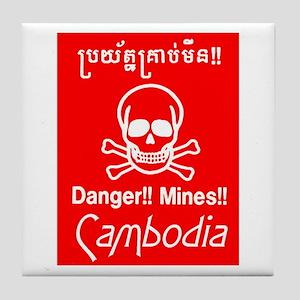 Cambodian Mines Tile Coaster