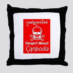 Cambodian Mines Throw Pillow
