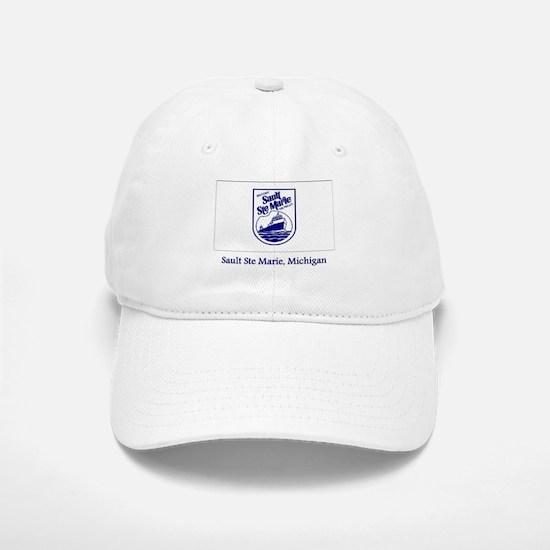 Sault Ste Marie MI Flag Baseball Baseball Cap