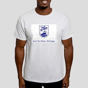 Sault Ste Marie MI Flag Light T-Shirt