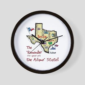 TX-Alamo! Wall Clock