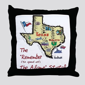 TX-Alamo! Throw Pillow