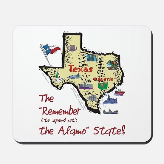 TX-Alamo! Mousepad