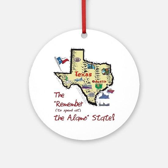 TX-Alamo! Ornament (Round)