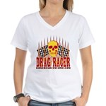 DRAG RACER Women's V-Neck T-Shirt