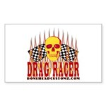 DRAG RACER Rectangle Sticker