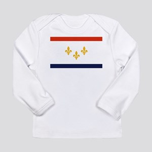 New Orleans Flag Long Sleeve T-Shirt