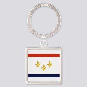 New Orleans Flag Keychains