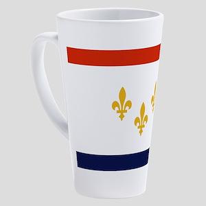 New Orleans Flag 17 oz Latte Mug