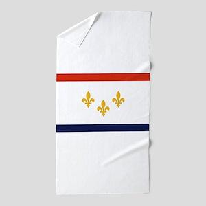 New Orleans Flag Beach Towel