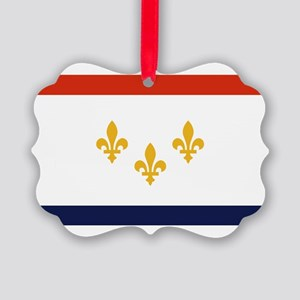 New Orleans Flag Picture Ornament