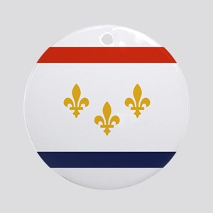 New Orleans Flag Round Ornament