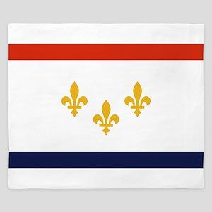 New Orleans Flag King Duvet