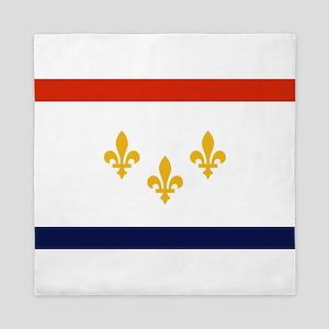 New Orleans Flag Queen Duvet